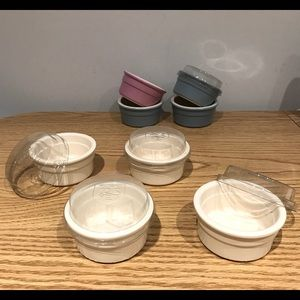 4for$20 Ceramic Bowls with Plastic Lids
